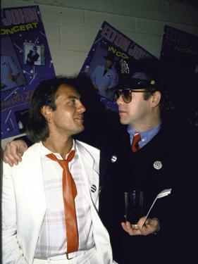 Songwriters Bernie Taupin and Elton John