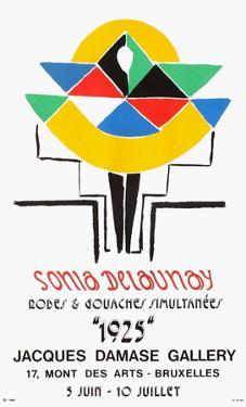 Expo 75 - Damase Gallery Bruxelles by Sonia Delaunay-Terk