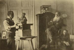 Leo Tolstoy and the Sculptor Prince Paolo Troubetzkoy by Sophia Andreevna Tolstaya