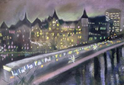 Hungerford Bridge, from the South Bank, 1995 by Sophia Elliot