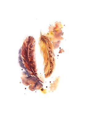 Orange Feathers by Sophia Rodionov