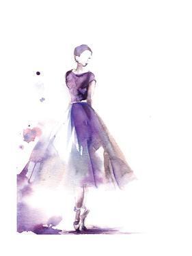 Purple Ballerina III by Sophia Rodionov