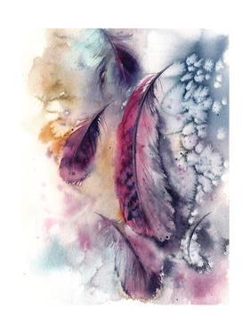 Purple Feathers V by Sophia Rodionov