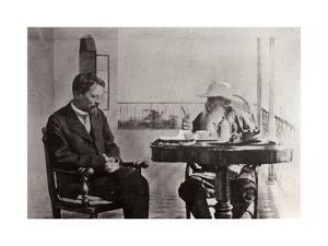 Leo Tolstoy and Anton Chekhov, Russian Authors, 1902 by Sophia Tolstaya