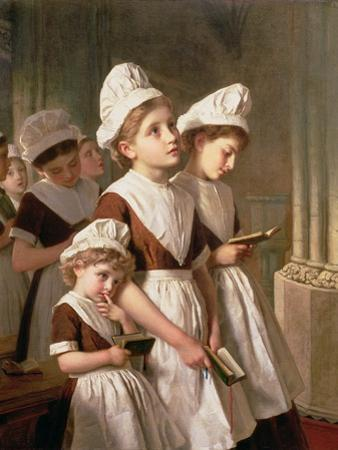 Foundling Girls at Prayer in the Chapel, C.1877