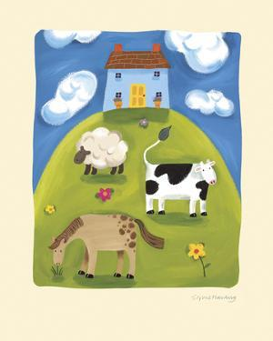 Blue Farmhouse by Sophie Harding
