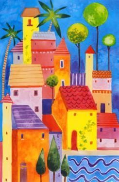 Hill Town I by Sophie Harding