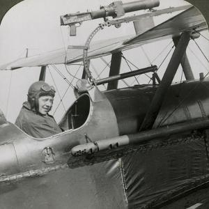 Sopwith Scout with Photographic Gun Mounted on the Upper Wing, World War I, 1914-1918