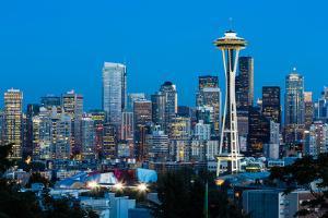 Seattle Skyline, Washington USA by sorincolac