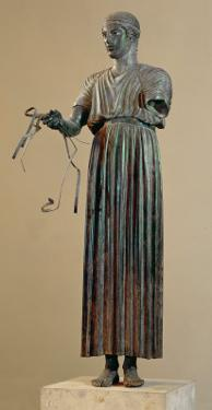 The Charioteer of Delphi, a Votive Offering from Polyzalos by Sotades