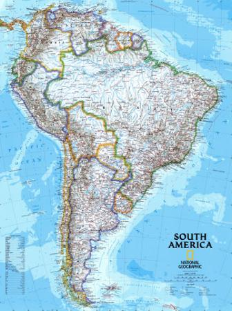 Affordable Maps Of South America Posters For Sale At Allposters Com
