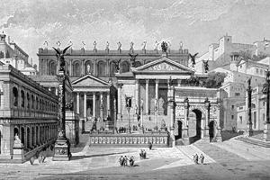 South and West Sides of the Forum, Rome by C Hulsen