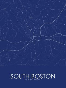 South Boston, United States of America Blue Map