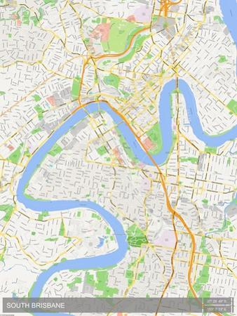 South Brisbane, Australia Map