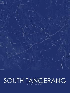 South Tangerang, Indonesia Blue Map