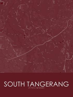South Tangerang, Indonesia Red Map