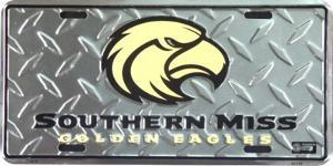 Southern Miss Golden Eagles License Plate
