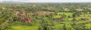 Southern View of Stupas Seen from Top of Tower at Aureum Palace Hotel, Bagan, Mandalay Region