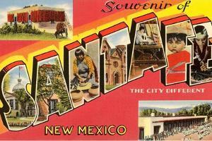 Souvenir of Santa Fe, New Mexico, the City Different