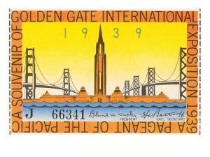Souvenir Ticket, International Exposition, San Francisco, California