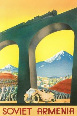 Soviet Armenia Travel Poster