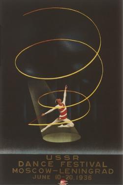 Soviet Dance Festival Poster