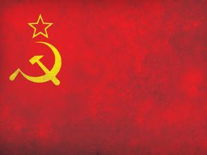 Soviet Flag Distressed Art Print Poster