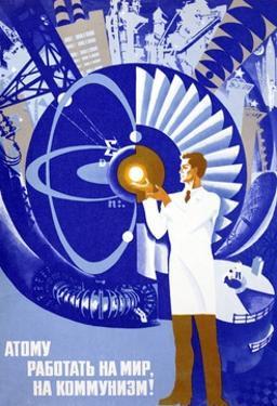 Soviet Poster Celebrating Atom