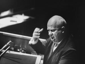 Soviet Prime Minister Nikita S. Khrushchev Speaking at the Un General Assembly