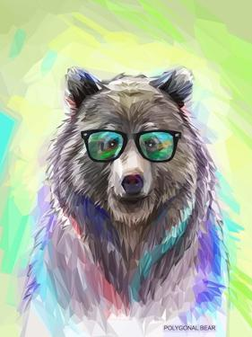 Colorful Bear Illustration. Bright Poster by Sovka