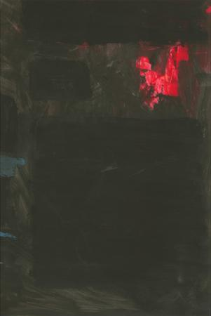 Homage to Rothko - Red and Blue on Black
