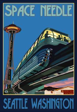Space Needle and Monorail, Seattle, Washington