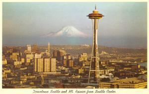 Space Needle, Mt. Rainier, Seattle, Washington