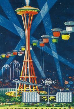 Space Needle Worlds Fair Poster - Seattle, Wa