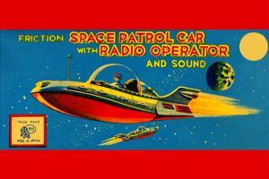 Space Patrol Car with Radio Operator