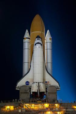 Space Shuttle Atlantis Pre Launch Kennedy Space Center July 2011 Night 3