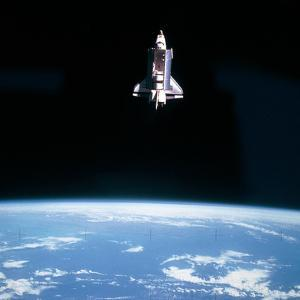 Space Shuttle Challenger During Mission STS-7
