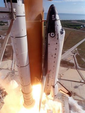 Space Shuttle Columbia Lifts Off the Launch Pad