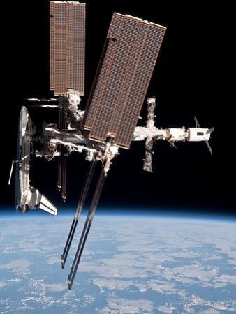 Space Shuttle Endeavor Docked to the International Space Station