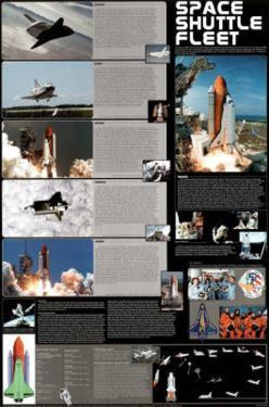 Space Shuttle Fleet Educational Science Chart Poster Print