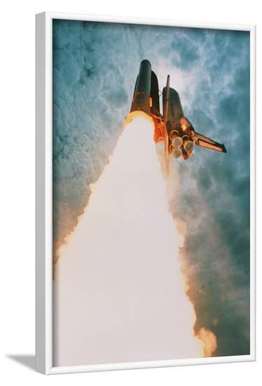 Space Shuttle Launch--Framed Photographic Print