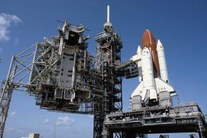 Space Shuttle on Launch Pad
