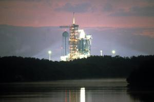 Space Shuttle on Launchpad, Kennedy Space Center, Florida