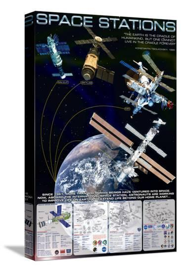 Space Stations--Stretched Canvas Print