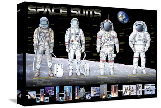 Space Suits--Stretched Canvas