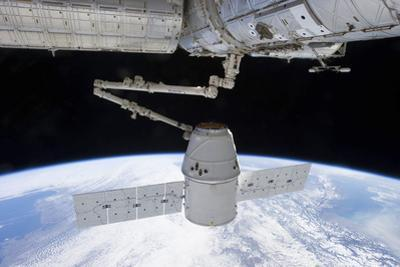 Spacex Dragon During its Docking with the International Space Station