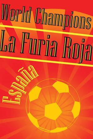 Spain 2010 World Cup Champions Sports Plastic Sign