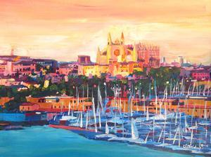 Spain Balearic Island Palma De Mallorca With Harbour And Cathedral Neu by M Bleichner