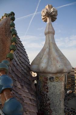 Spain, Barcelona, Casa Batllo by Antonio Gaudi