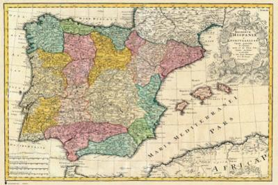 Spain Old Map